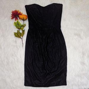 Scott McClintock Black Strapless Velvet Dress 4